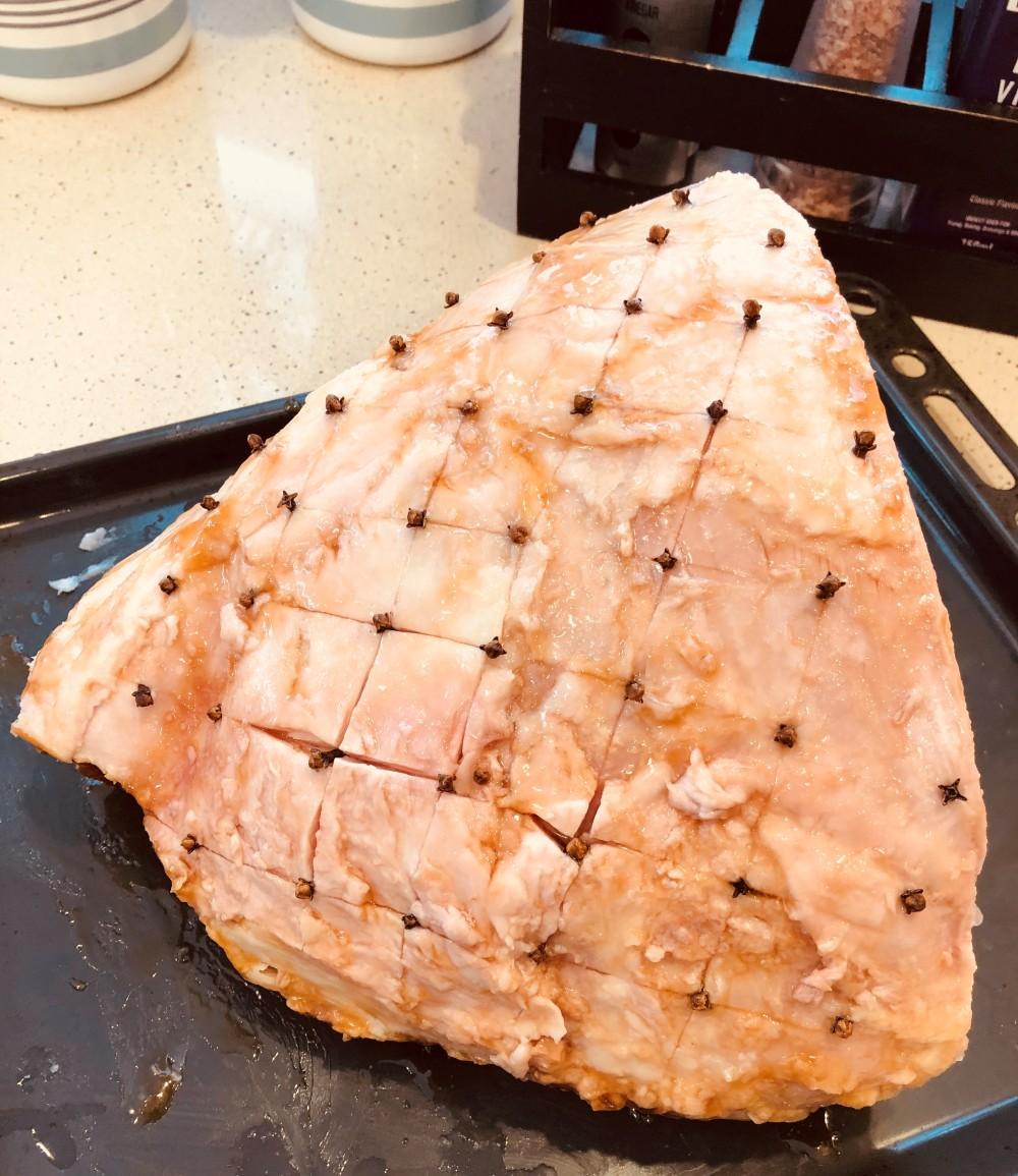Christmas Ham Pre Glaze